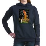 Poodle Pair (BW) - MidEve.png Hooded Sweatshirt