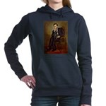TILE-LINCOLN-Pug-Blk14.png Hooded Sweatshirt