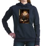 QUEEN-Pug-Blk14.png Hooded Sweatshirt