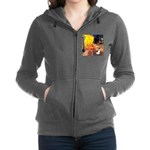 Rat Terrier - Terrace Cafe.png Zip Hoodie