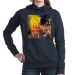 Rat Terrier - Terrace Cafe.png Hooded Sweatshirt