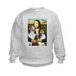 Mona Lisa / 2 Shelties (DL) Kids Sweatshirt