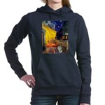 810-Cafe-Sheltie2.png Hooded Sweatshirt