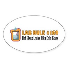 Hot and Cold Glass Oval Decal