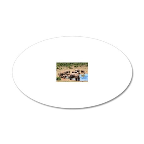Elephant 008 20x12 Oval Wall Decal