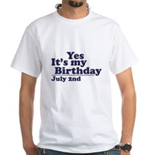 July 2 Birthday Shirt