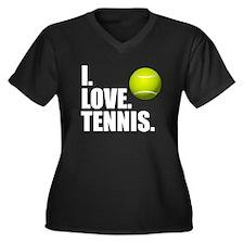 I Love Tennis Plus Size T-Shirt