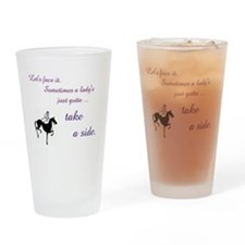 Sidesaddle Lady Equestrian - Take a Drinking Glass