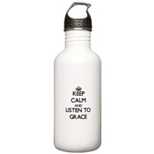Keep Calm and listen to Grace Water Bottle