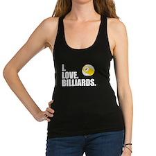 I Love Billiards Racerback Tank Top