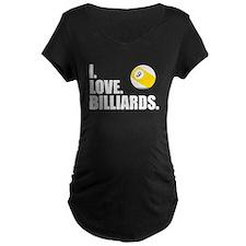 I Love Billiards Maternity T-Shirt
