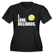 I Love Billiards Plus Size T-Shirt