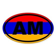 Armenia AM Flag Decal