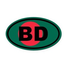 Bangladesh flag BD Oval Car Magnet