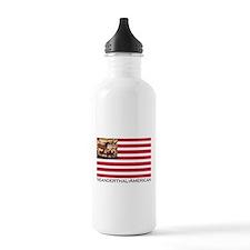 Neanderthal-American Flag Water Bottle
