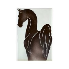Saddlebred Pose Rectangle Magnet