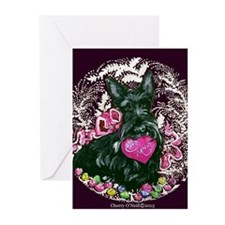 Scottish Terrier Valentine Greeting Cards