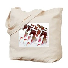 A bunch of Saddlebreds Tote Bag