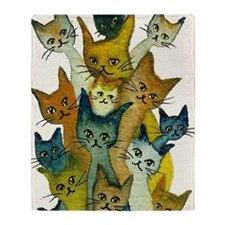 Kalamazoo Stray Cats Throw Blanket