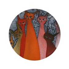 "Casablanca Stray Cats 3.5"" Button"