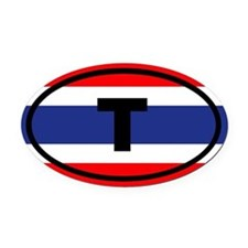 Thailand flag T Oval Car Magnet