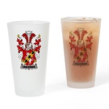 Erasmus Family Crest Drinking Glass