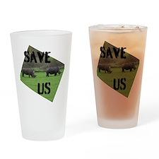 Save the Rhinos Drinking Glass