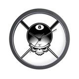 Pool Pirate II Wall Clock