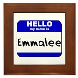 hello my name is emmalee  Framed Tile