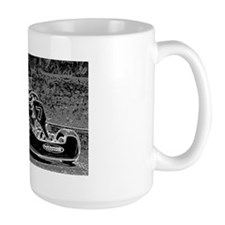Kid Kart in Black and White Mug