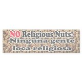 Religious Nuts Bumper Car Sticker
