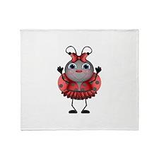 Dancing Ladybug Throw Blanket