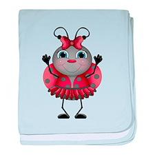 Dancing Ladybug baby blanket
