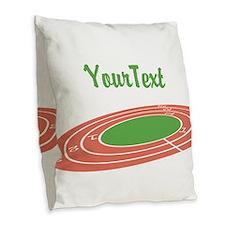 Customize Track Burlap Throw Pillow