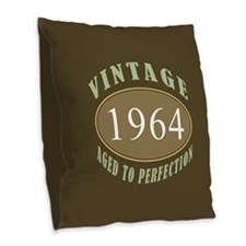 1964 Vintage Birth Year Burlap Throw Pillow