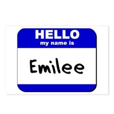 hello my name is emilee  Postcards (Package of 8)