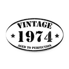 Vintage Aged to Perfection Oval Car Magnet