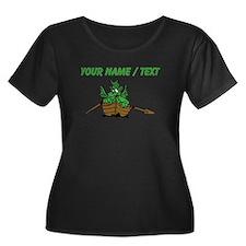 Custom Dragon On Boat Plus Size T-Shirt