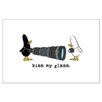 WTD: Kiss My Glass Large Poster