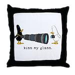 WTD: Kiss My Glass Throw Pillow