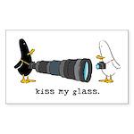 WTD: Kiss My Glass Rectangle Sticker