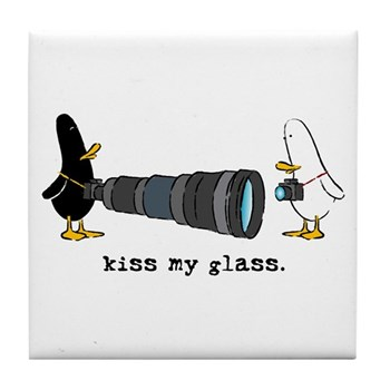 WTD: Kiss My Glass Tile Coaster