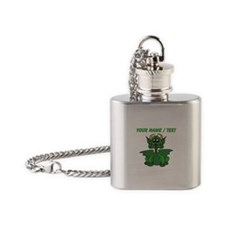 Custom Baby Dragon With Horns Flask Necklace