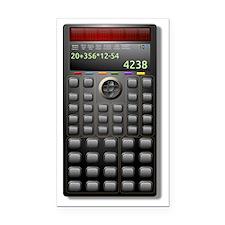Calculator Rectangle Car Magnet