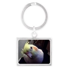 Cockatiel Magic Landscape Keychain