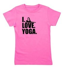 I Love Yoga Girl's Tee