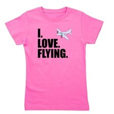 I Love Flying Girl's Tee