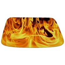 Feet to the Fire and Flames Bathmat