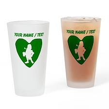 Custom Leprechaun Heart Drinking Glass