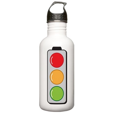 Traffic lights red gre Stainless Water Bottle 1.0L